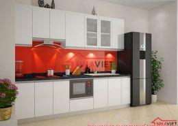 Thiết kế thi công tủ bếp nhà diễn viên Ngọc Hà