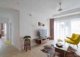 Sửa căn chung cư Hà Nội tối giản nhưng thanh lịch